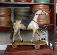 antique horse toy