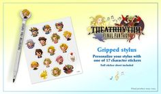 Sorry I screwed up with that last post...Theatrhythm Final Fantasy will not be in stores until July 3. But on the plus side, the preorder bonus is still available if you're interested in it. It's a special stylus and a set of (adorable) stickers!