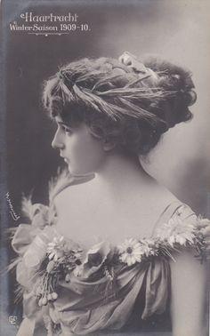 1909s 1910s Edwardian Hair Fashion Beauty Lady RPPC Photo Postcard C470 | eBay