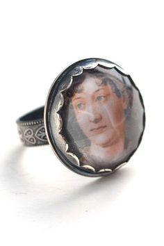 Jane Austen Ghost Ring on Etsy. #FavoriteAustenMoment #DearMrKnightley
