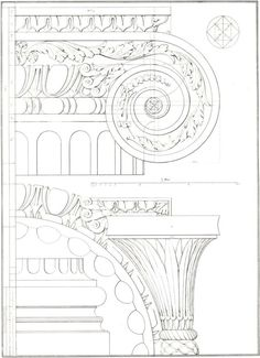 1842 Architectural Print Palladio  Four Books by CarambasVintage, $18.00