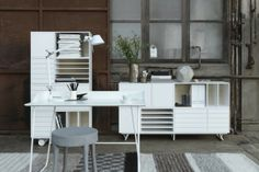 More home-office ideas...love the all white!