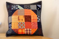 Diary of a Quilter - a quilt blog: Patchwork Pumpkin  I will copy this. Next year. :)