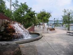 The fountains at Volunteer Landing, Knoxville, TN