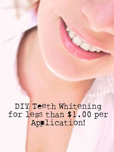 DIY Beauty: Homemade Teeth Whitening for less than $1 per application