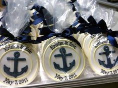 anchor theme, cleaning, nautical cookies, bakeries, boxes, nautical bridal shower favors, anchor party favor, blog, bridal showers