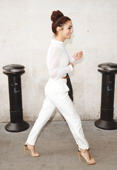 white on white. vanessa hudgens, woman fashion, style, white outfits, casual looks, casual outfits, blog, shoe, shirt
