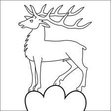Stag outline art for coat of arms or Tunic