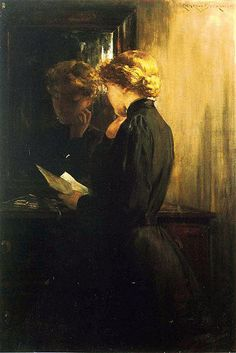 James Carroll Beckwith: The Letter, 1910