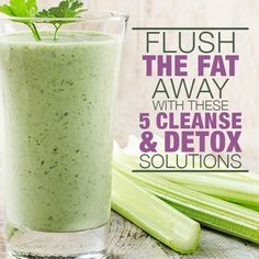 Flush The Fat Away with these Cleanse & Detox Solutions.The lemon ginger detox drink is my favorite. #cleanse #detox #drinks
