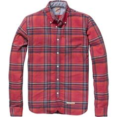 Scotch & Soda - Men's Multicoloured Check Shirt - Red