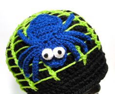 Along Came a Spider Beanie CROCHET HAT PATTERN. $4.50, via Etsy.