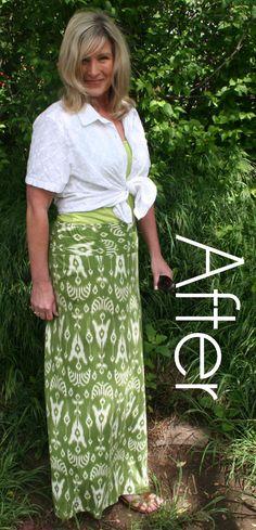 DIY Summer Maxi Skirt Refashion Tutorial