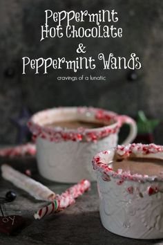 Peppermint Hot Chocolate and Peppermint Wands