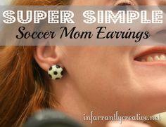 DIY Soccer Mom Earrings