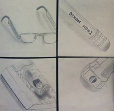 up close and personal-7th grade drawing project