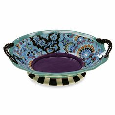 Tracy Porter® Oval Bowl with Handles for Poetic Wanderlust® in Rose Boheme - BedBathandBeyond.com