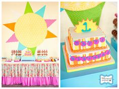 Bright As The Sun 1st Birthday Party! - Sunshine Party - Karas Party Ideas - The Place for All Things Party