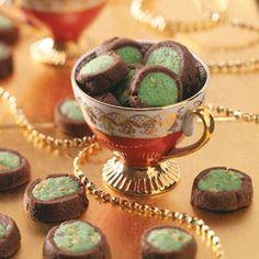Pistachio button cookies. I love pistachio everything!!