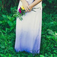 Ever considered dying your own wedding dress? It's a brave decision but the ombre beauty is worth the risk..