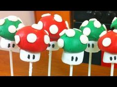 ▶ SUPER MARIO CAKE POPS - NERDY NUMMIES - YouTube
