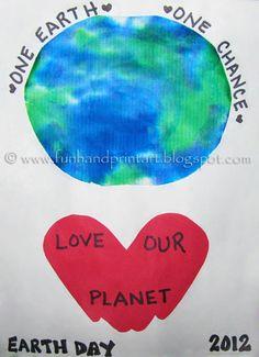 Handprint and Footprint Arts & Crafts: Kids Handprint Earth Day Craft