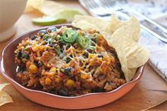 Cheesy Mexican Rice & Black Beans