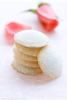 Pretty #pink #rosewater #almond #tea #cookies.
