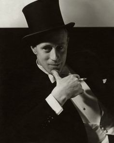 Gone with the Wind star Leslie Howard, photographed by Edward Steichen, channels Chaplin in a top hat and tux for the January 1934 issue.