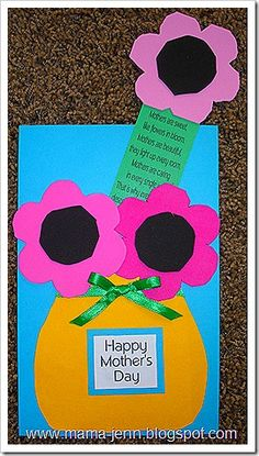 Mother's Day Card & Bookmark.  So cute and easy for little hands.