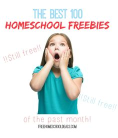 The BEST 100 HOMESCHOOL FREEBIES of the Past Month! #homeschool #homeschooling #homeschoolfreebies