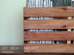 Easy Vinegar Stained Crate