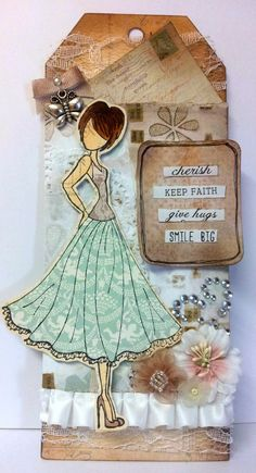 prima doll stamp tags - Google Search