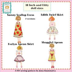 dress patterns, girl doll, doll dresses, doll clothes, giammalva doll, doll patterns, doll combo, baby dolls, american girls