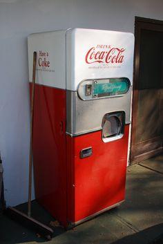 vintage coke fridge