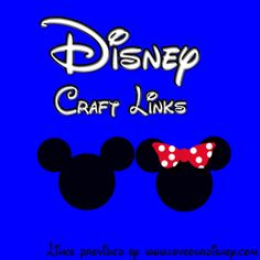 Some really cute ideas at this site:  Love Our Disney: Disney Craft Link Up