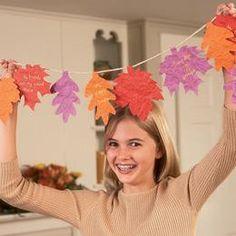 Thanksgiving Crafts for Kids Garland