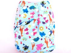 Kawaii Baby Diapers - Goodnight Heavy Wetter Pocket Diaper Snap Closure