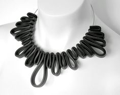 rubber necklace rubber jewelry geometric modern by frankideas, $50.00