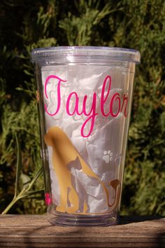 Personalized Tumbler for Vet Tech or Assistant by TheGlassHeartCo, $11.00
