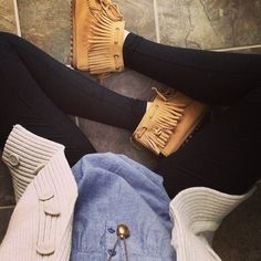 fall fashions, style, cozy outfits, ankle boots, denim shirts, fall outfits, moccasin, fring, shoe