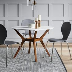 "Emmond Mid Century 42"" Round Dining Table - Project 62™ : Target"
