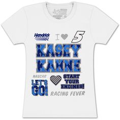Kasey Kahne #5 Farmers Girls Crest T-shirt