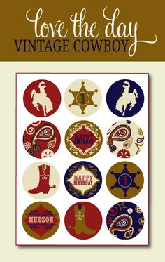 vintage cowboy printables