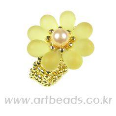 - bead ring, chart, ring pattern, flower ring