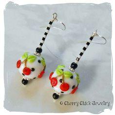 dot earring, polka dots, earring 30, cherri polka