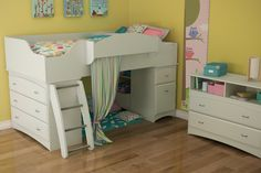 Amazon.com: South Shore Imagine Collection Twin Loft Bed kit, Pure White: Home & Kitchen