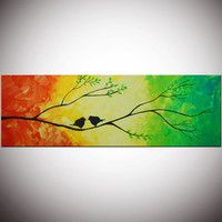 Original Modern Abstract Large by FlowerArtPainting