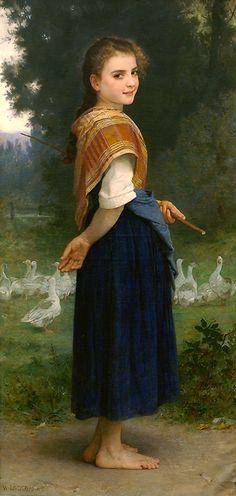 William-Adolphe Bouguereau, The Goose Girl