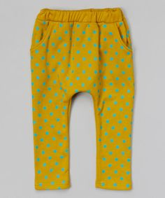 Look what I found on #zulily! Yellow & Teal Star Harem Pants - Infant, Toddler & Kids by Leighton Alexander #zulilyfinds
